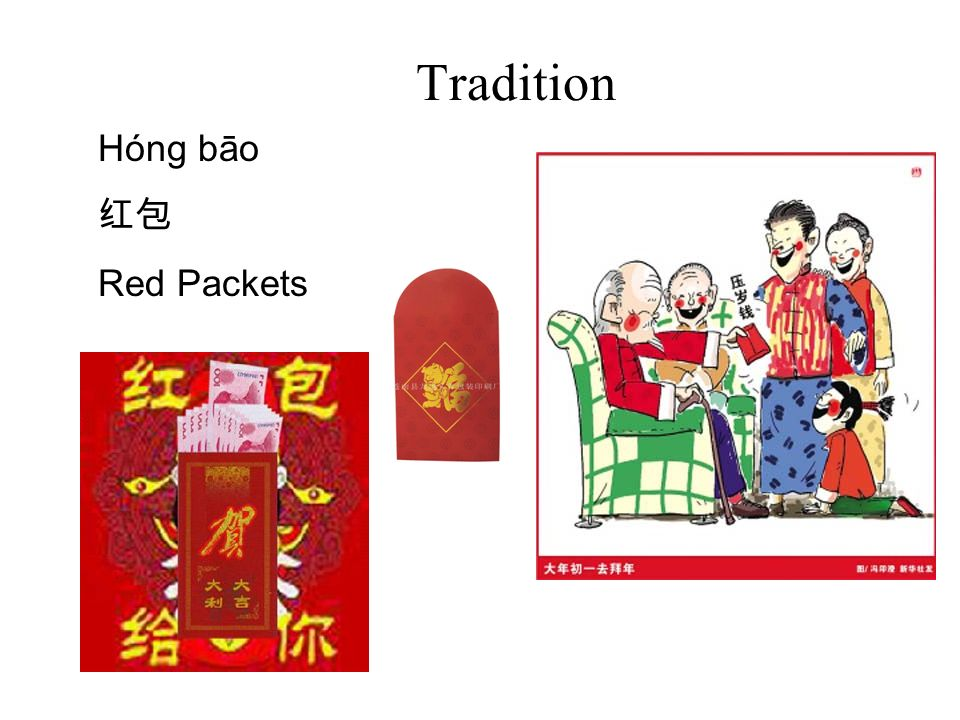 Tradition Hóng bāo 红包 Red Packets