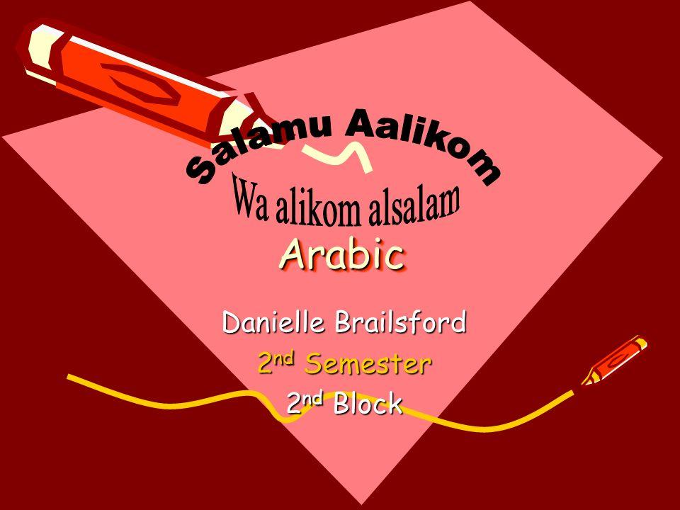 Danielle Brailsford 2nd Semester 2nd Block