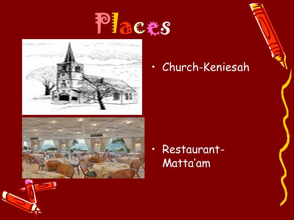 Places Church-Keniesah Restaurant-Matta'am