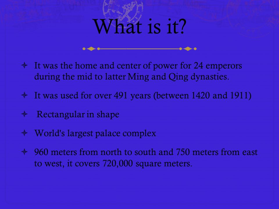 What is it It was the home and center of power for 24 emperors during the mid to latter Ming and Qing dynasties.