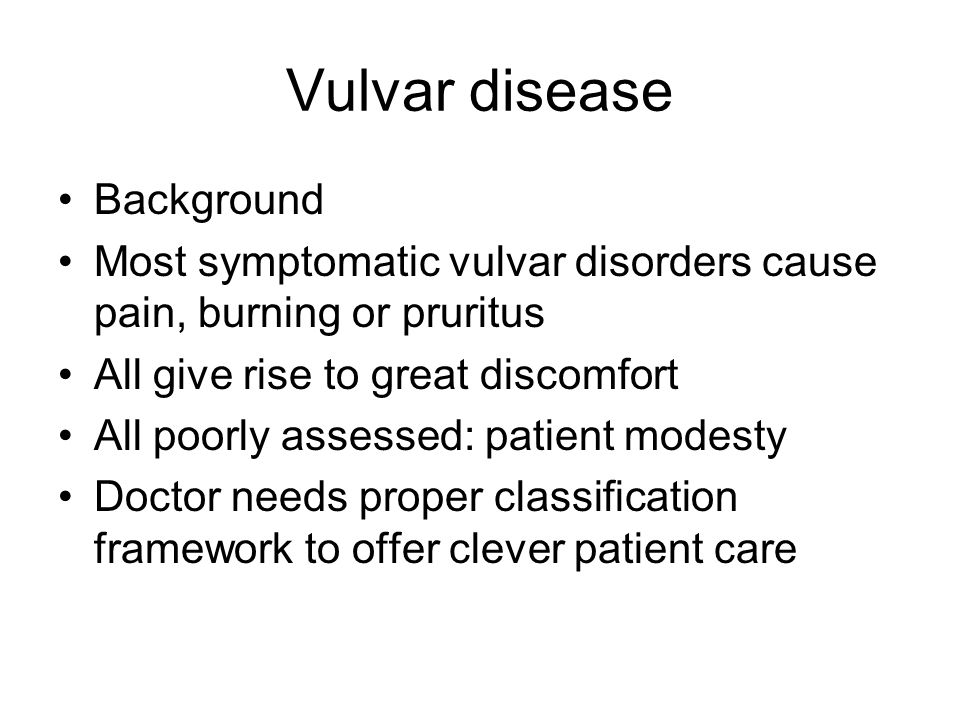 Vulvar disease Background