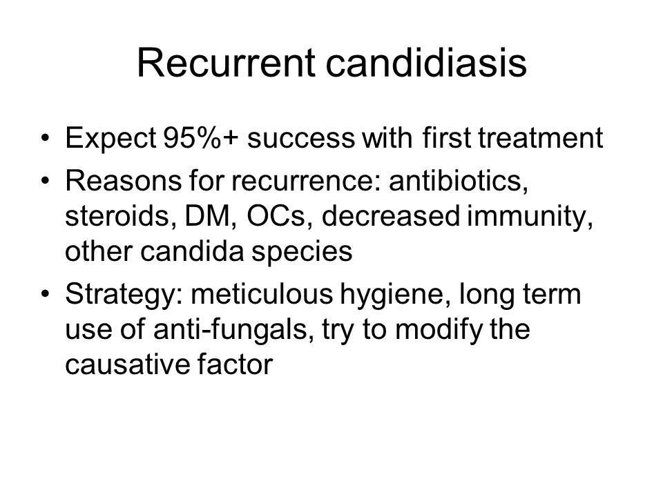 Recurrent candidiasis