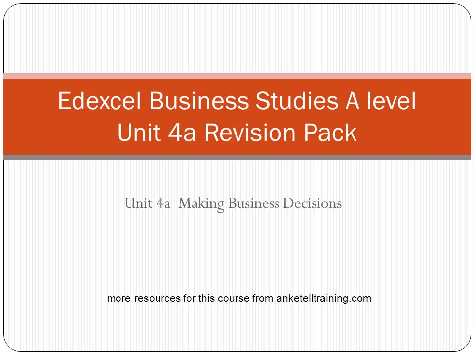edexcel business studies unit 3 jan