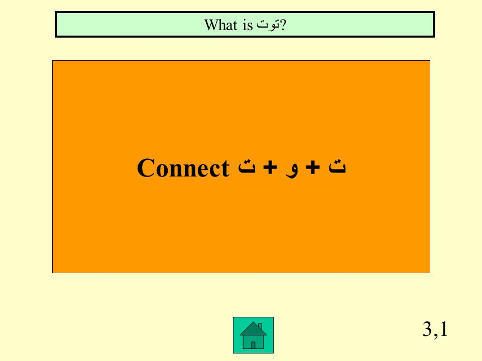 What is توت Connect ت + و + ت 3,1
