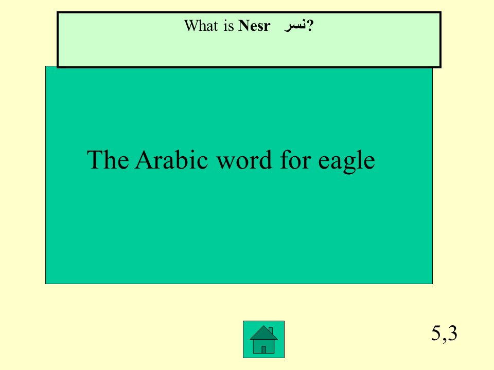 The Arabic word for eagle
