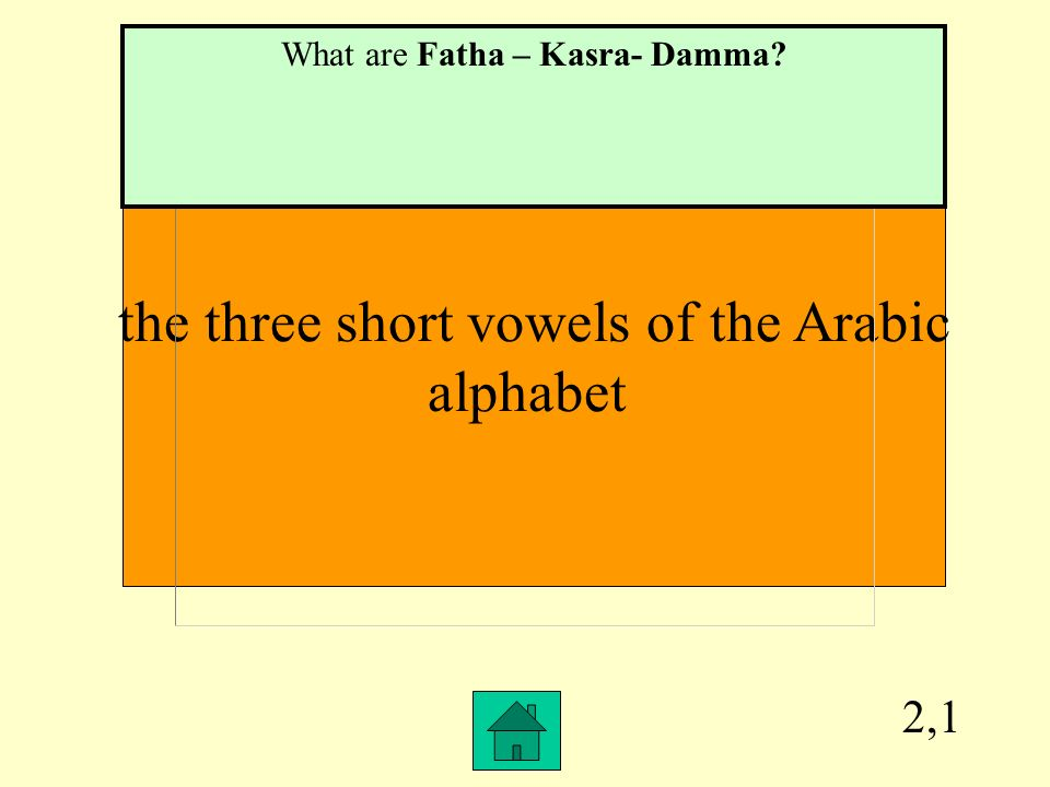 the three short vowels of the Arabic alphabet