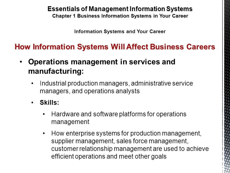 relationship of production systems to operations management