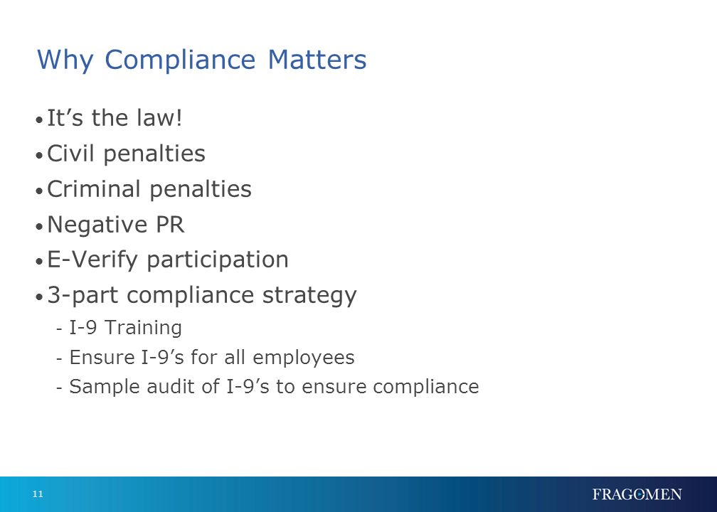 Why Compliance Matters