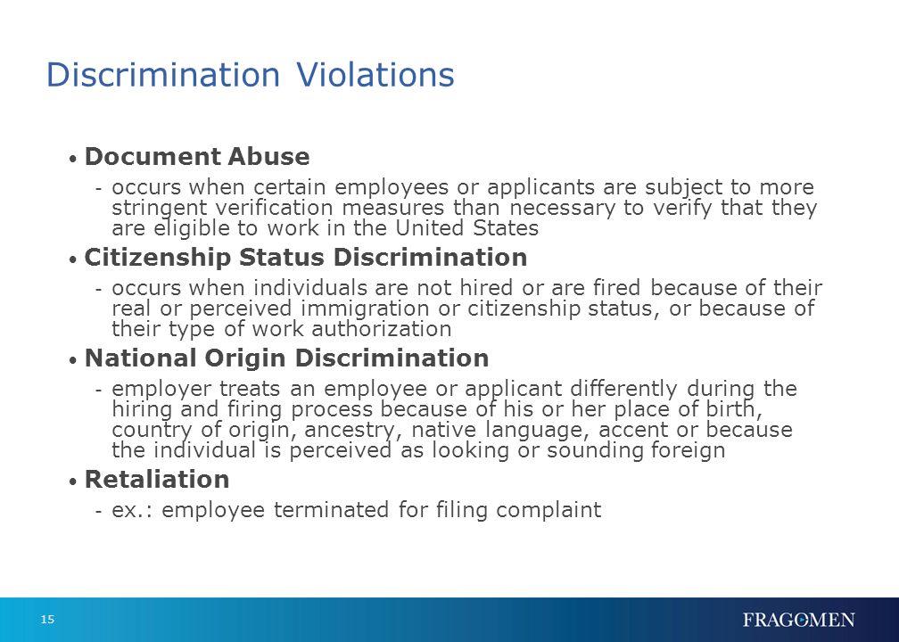 Discrimination Violations