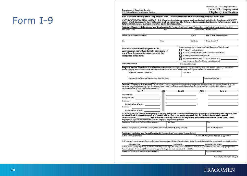Form I-9 18