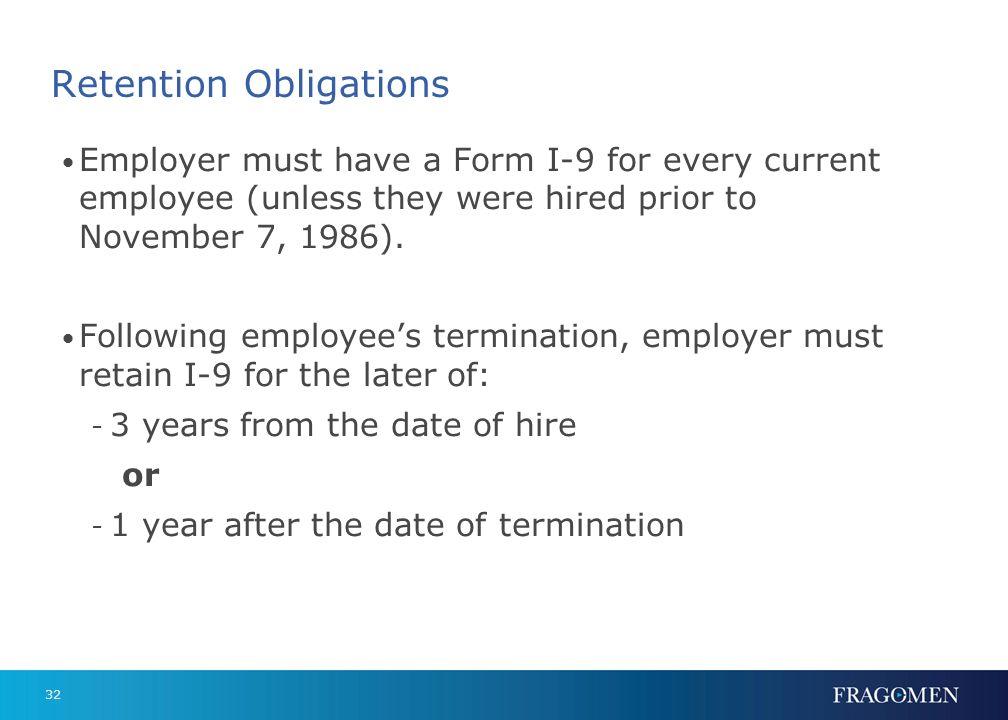 Retention Obligations