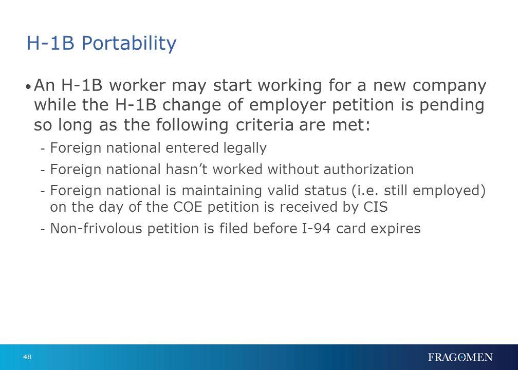 H-1B Portability