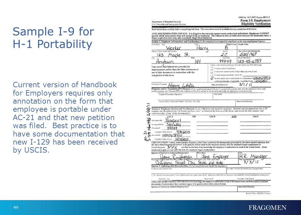 I-9's and E-Verification: Information You Need to Know - ppt download
