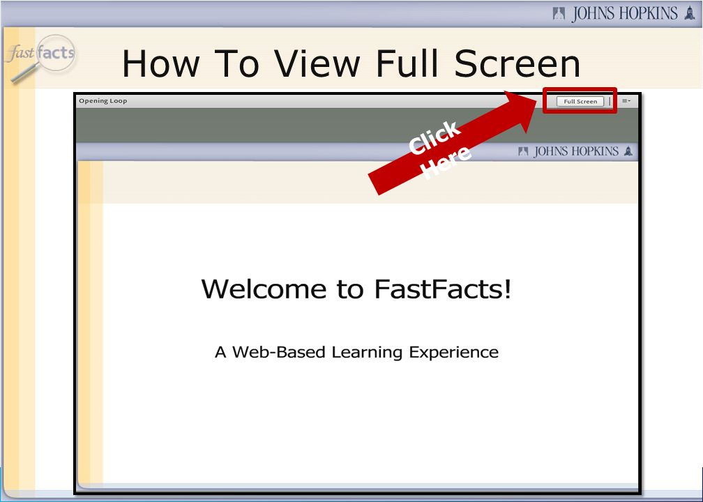How To View Full Screen Click Here