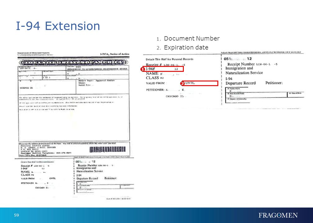 I-94 Extension Document Number Expiration date 1 2