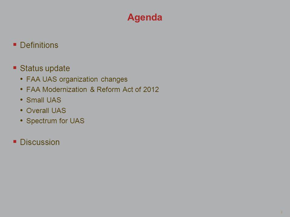 Agenda Definitions Status update Discussion