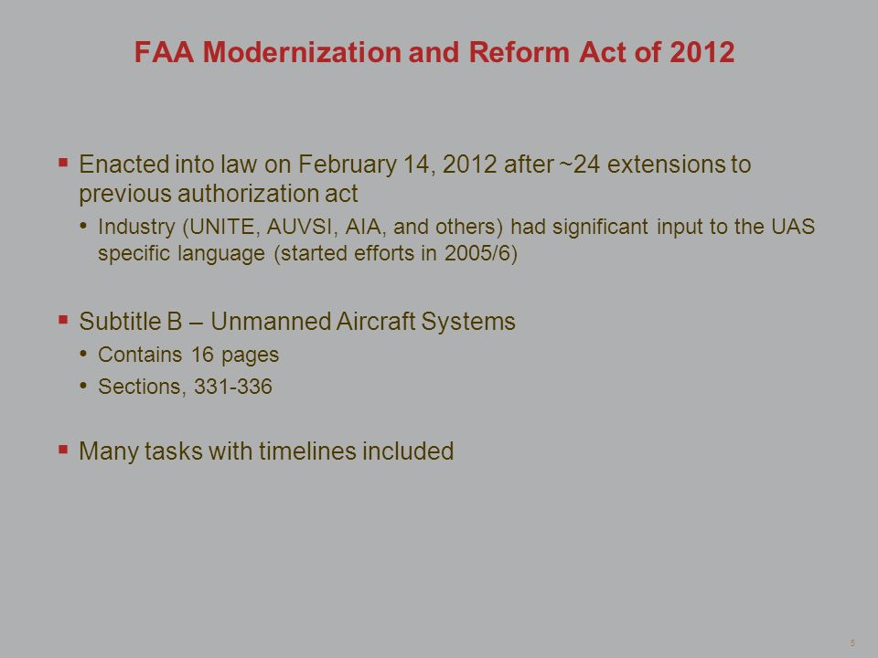 FAA Modernization and Reform Act of 2012