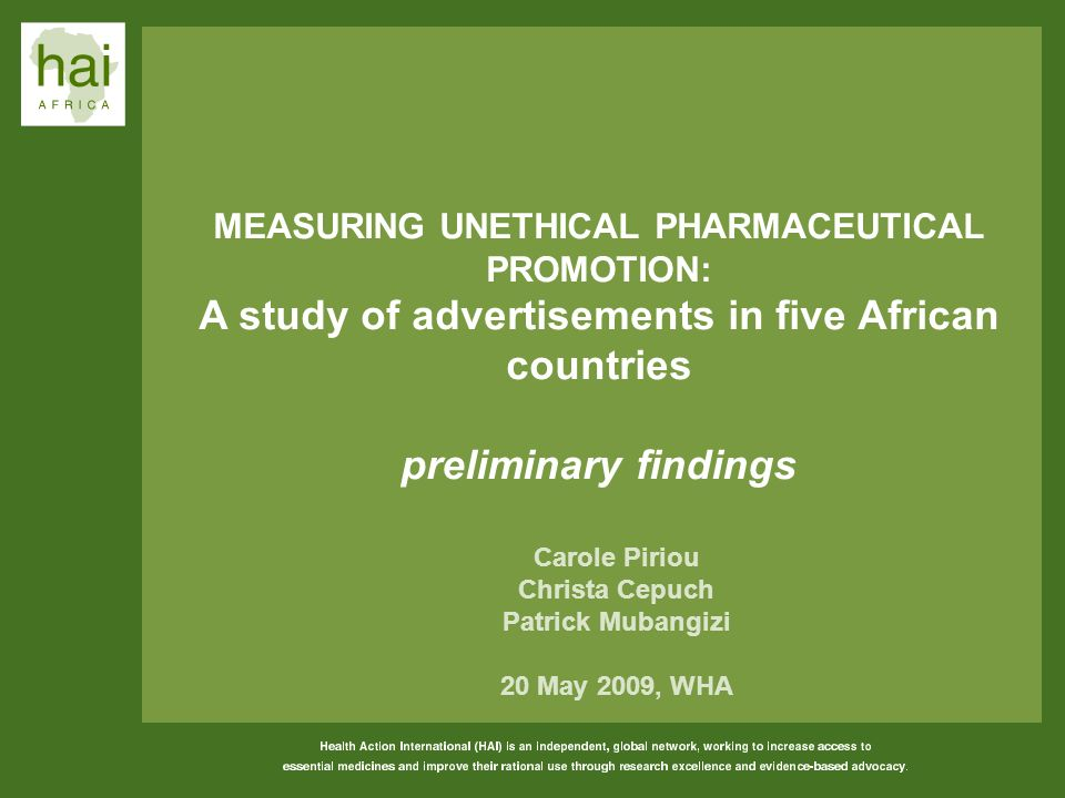A study of advertisements in five African countries