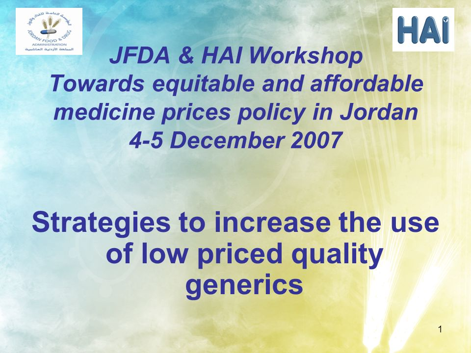 Strategies to increase the use of low priced quality generics