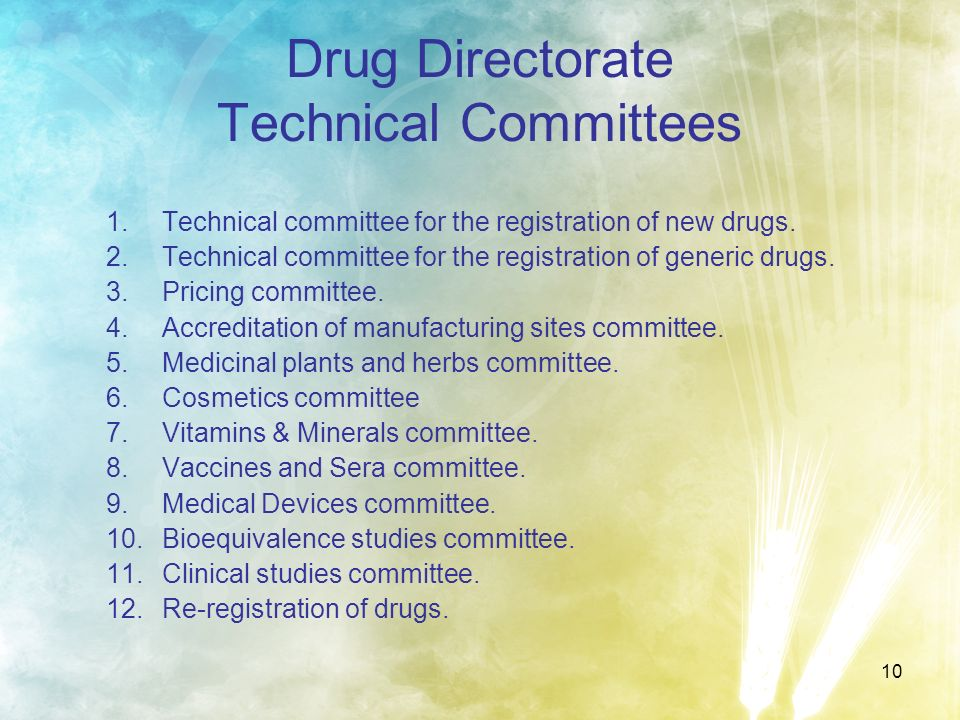 Drug Directorate Technical Committees