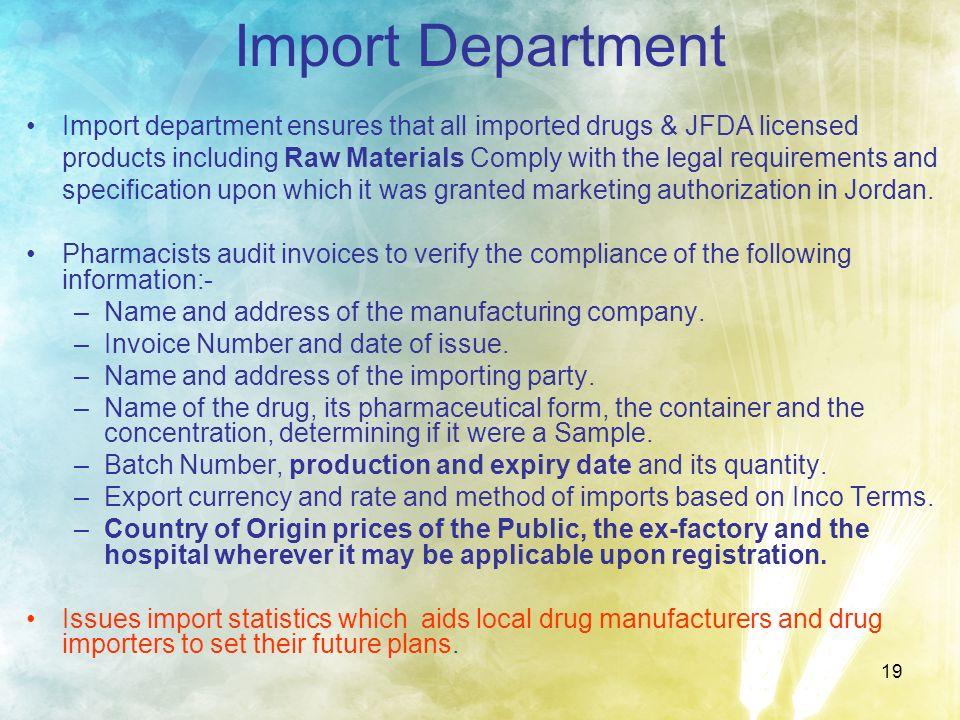 Import Department