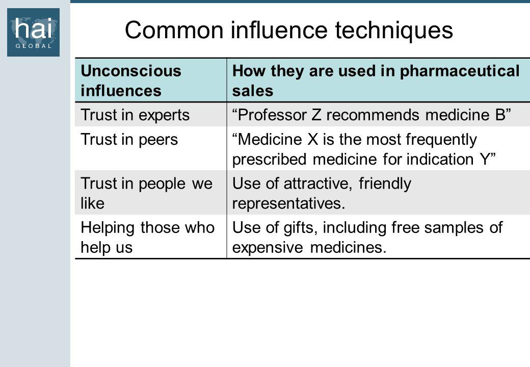 Common influence techniques