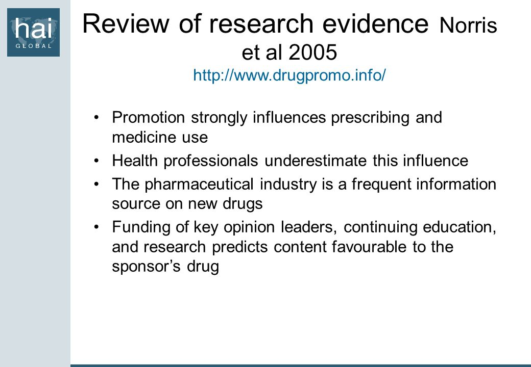 Review of research evidence Norris et al 2005