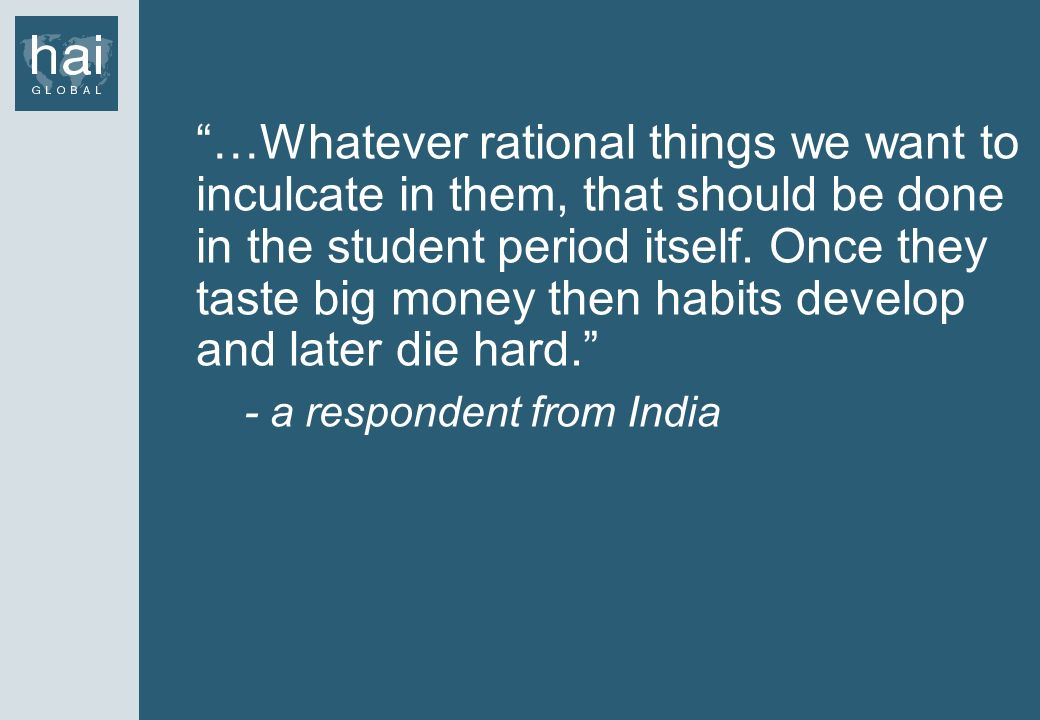- a respondent from India