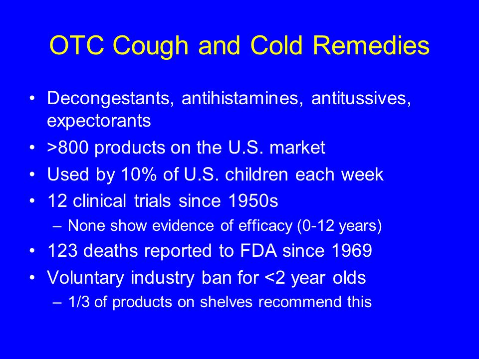 OTC Cough and Cold Remedies