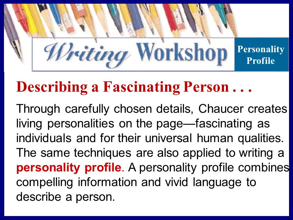 Describing A Fascinating Person Ppt Download