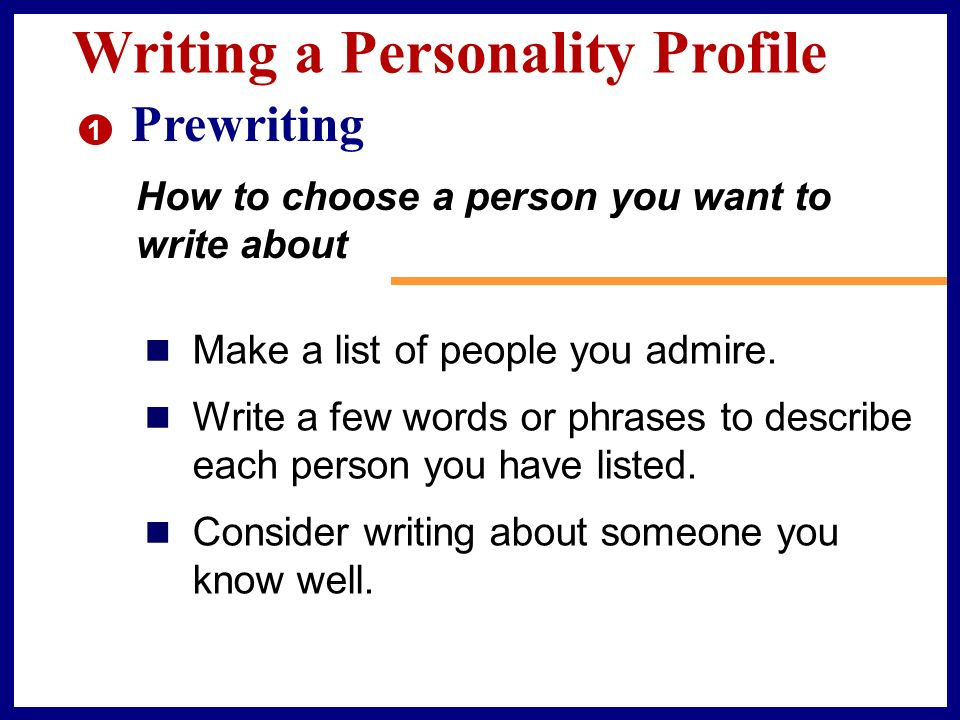 Write about a person you admire