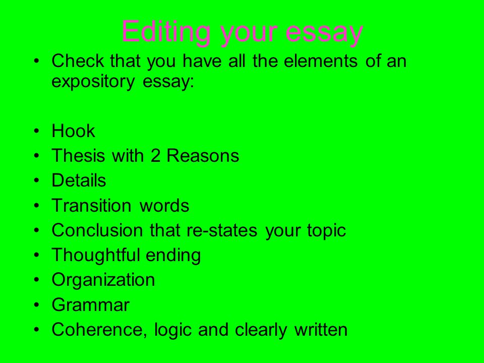 elements of writing an expository essay Quizlet provides writing elements expository activities, flashcards and games start learning today for free.
