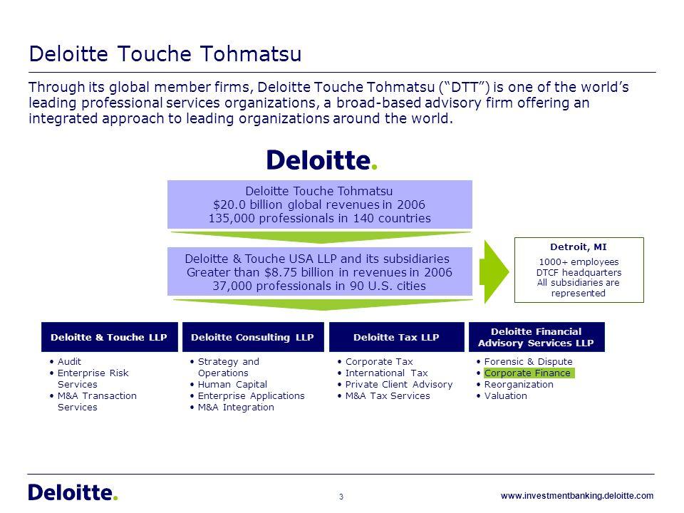 case analysis deloitte touche essay