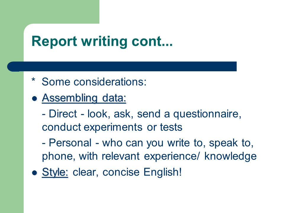 report writing in english Many academic assignments ask for a 'report' not an essay, reports are also widely used in the workplace learn what to include in a good report.