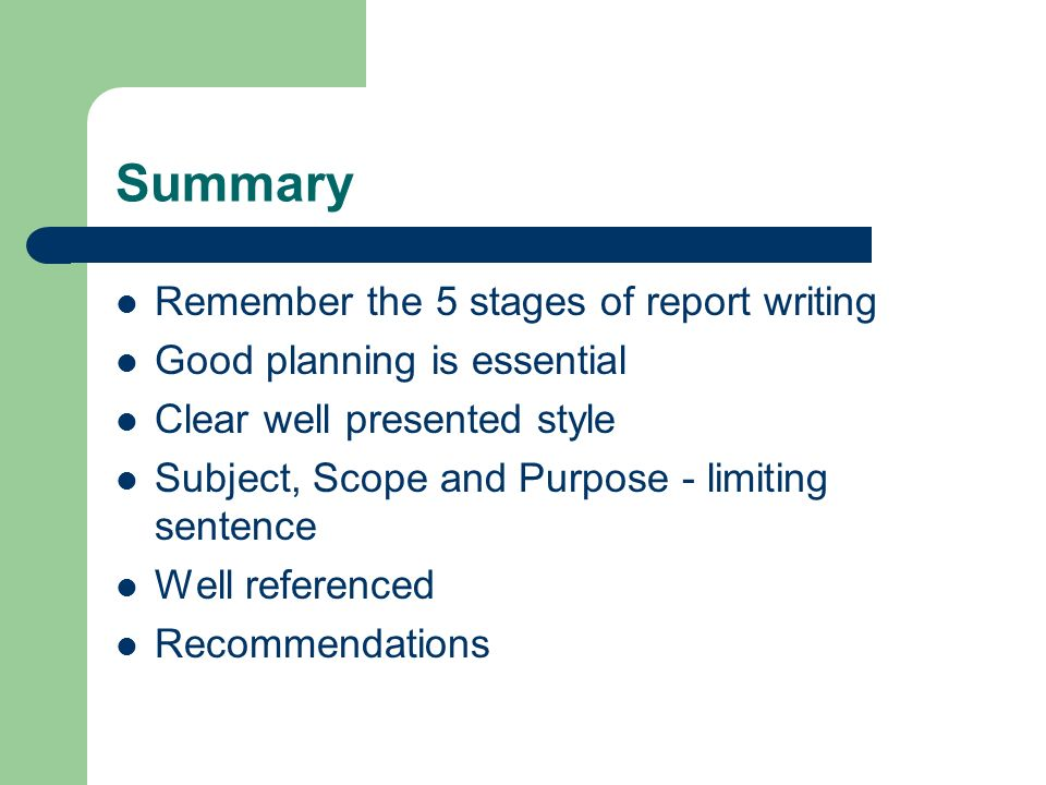 stages in report writing How to write a sports report in 4 steps by freelance writing news writing style is just as important for sports reporting as it is for general news, business stories or any other journalistic work.