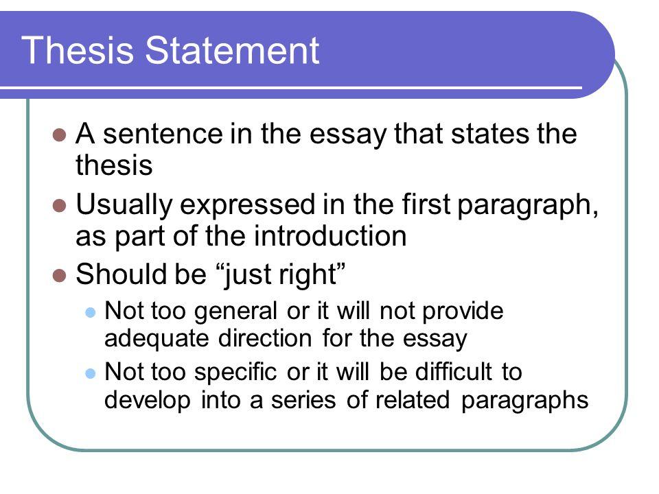 thesis sentenced