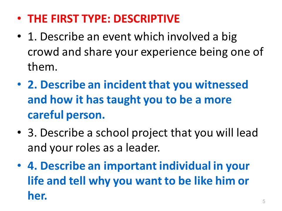 descriptive essay about a person of influence