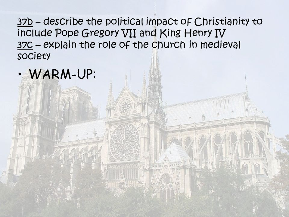 the role the christian church payed in the middle ages society Early middle ages the early attempts of democracy around 500 bc the athenians developed the system of democracy while for many of our political institutions and.