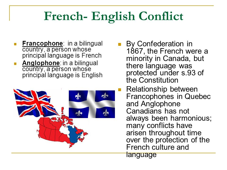 quebec and anglo french relations The quebec sovereignty movement (french: the history of the relations between french and there is an undercurrent of feeling amongst ethnic and anglo.