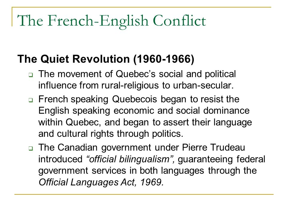 the quiet revolution of quebec and its effects on society The quiet revolution  the book's popularity revealed a quebec society that was ripe for change after years of post-war prosperity and industrialization.