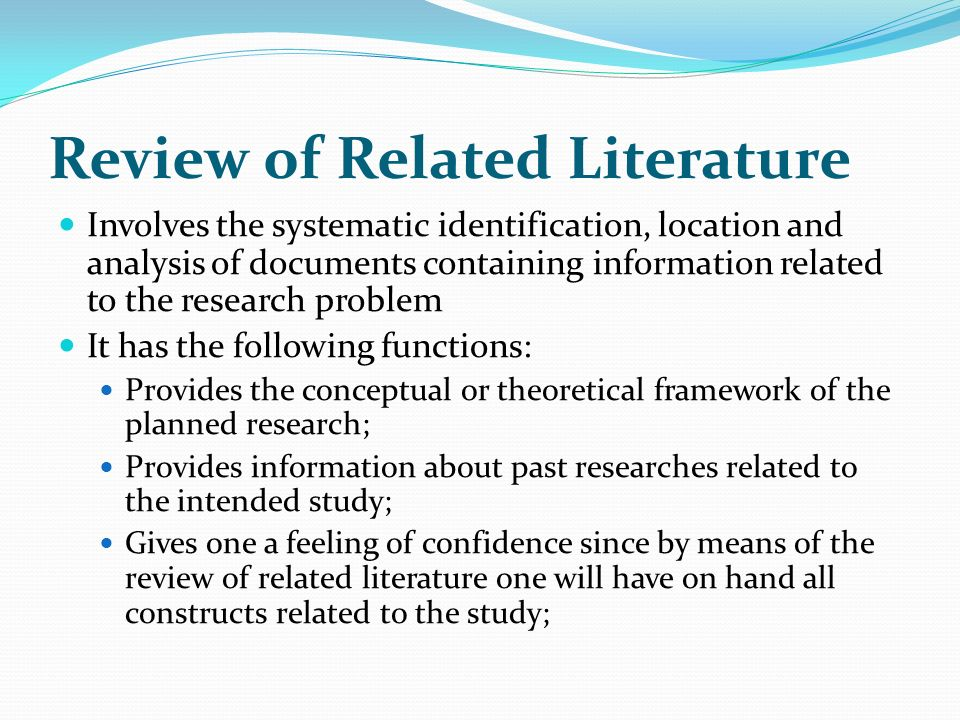 Review of related literature about internet