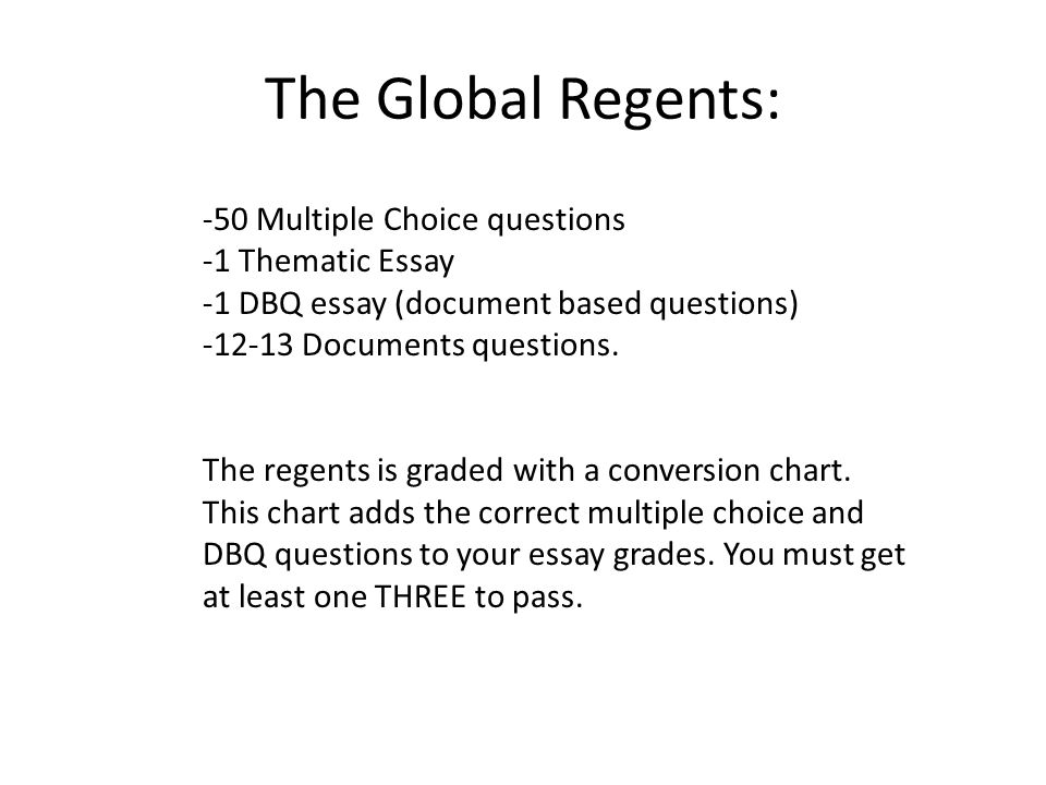 Only Thematic Partisan Topics To Concur Students Curiosity Are You Instead Follow The List Of Global History Regents Essay Questions