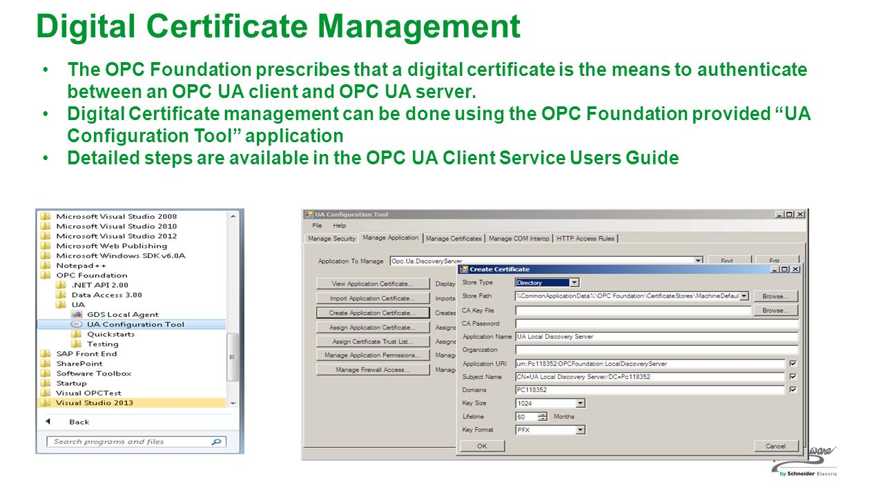 Ww 19 opc ua brand industries or technology what youll take digital certificate management xflitez Choice Image