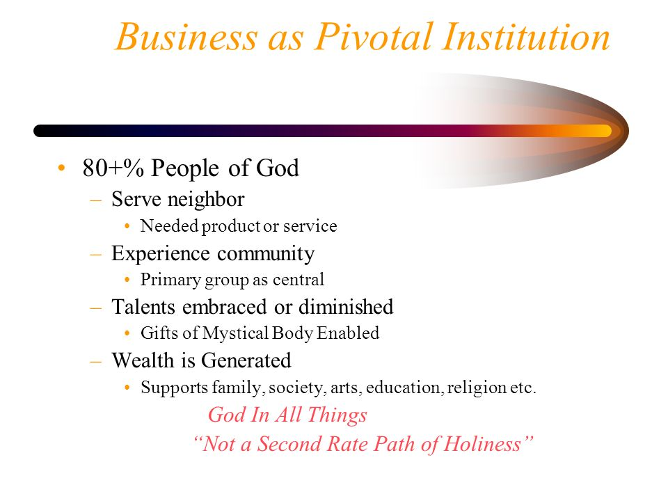 Business as Pivotal Institution