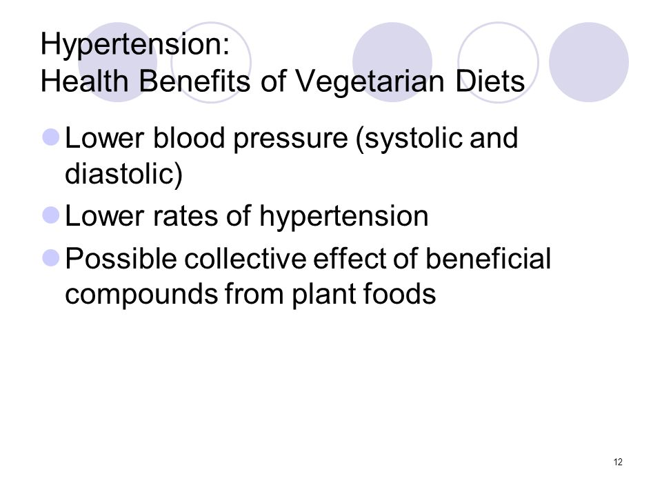 Hypertension: Health Benefits of Vegetarian Diets