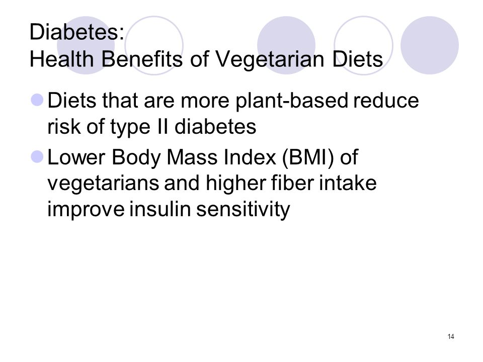 Diabetes: Health Benefits of Vegetarian Diets