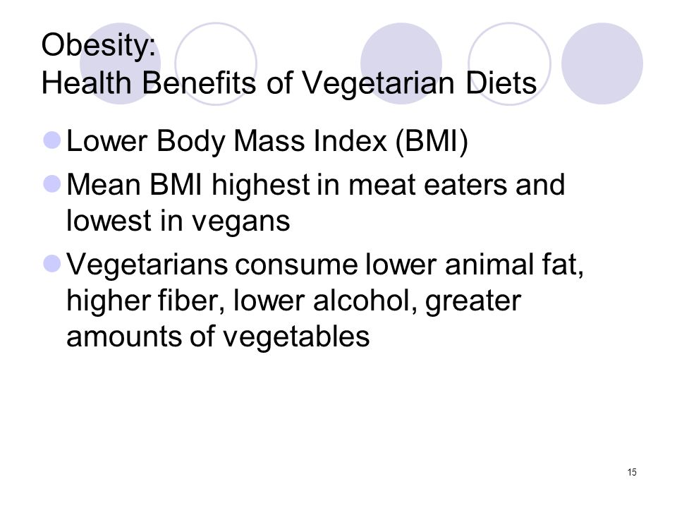 Obesity: Health Benefits of Vegetarian Diets