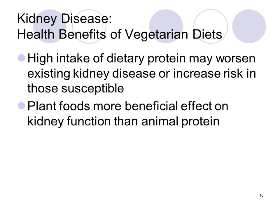 Kidney Disease: Health Benefits of Vegetarian Diets
