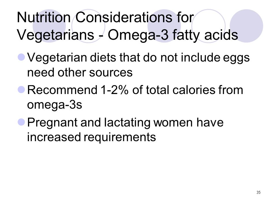 Nutrition Considerations for Vegetarians - Omega-3 fatty acids