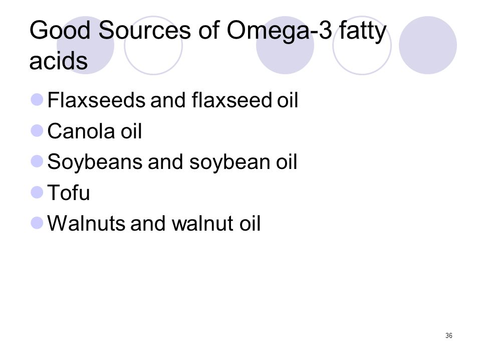 Good Sources of Omega-3 fatty acids